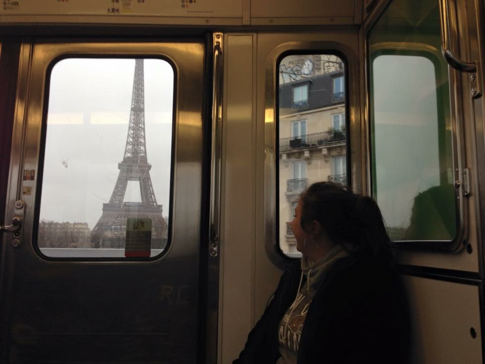 Eiffel Tower from train