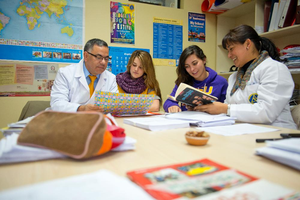LSU students Chilean teachers
